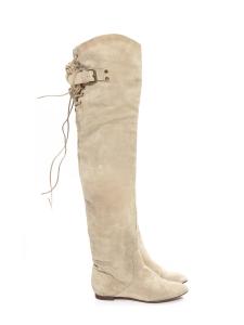 Bottes cuissardes CROSTA en suède beige clair Prix boutique 1190€ Taille 38
