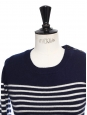 Pull marinière en pur cachemire bleu marine et blanc Prix boutique 300€ Taille XS