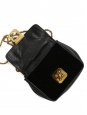Sac ELSIE small en cuir et velours noir à bandoulière Px boutique 995€