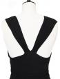 Black stretch jersey draped maxi dress Retail price €1500 Size 38