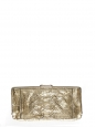 Metallic gold snakeskin leather evening clutch Retail price €950