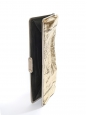 Pochette de soirée clutch en python métallisé doré Prix boutique 950€