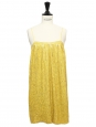 Yellow sequin-embroidered silk mini dress Retail price €1400 Size XS