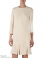 Light pink crepe ruffled hem dress Retail price €1133 Size 38