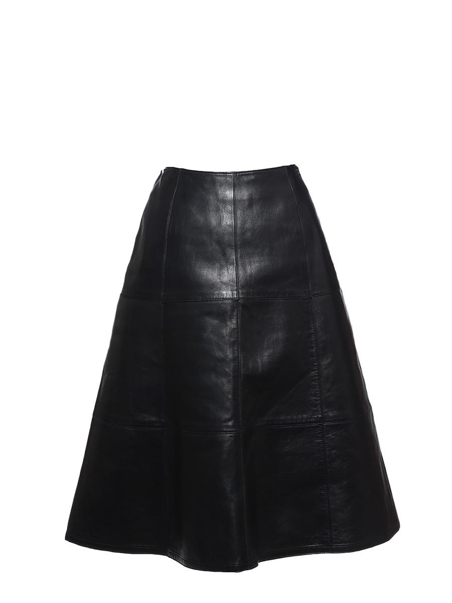 louise paris chanel jupe vas e taille haute en cuir noir prix boutique 2000 taille xs. Black Bedroom Furniture Sets. Home Design Ideas