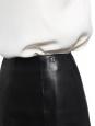 Jupe évasée taille haute en cuir noir Prix boutique 2000€ Taille XS