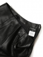 Black lambskin leather A-line skirt Retail price €2000 Size XS