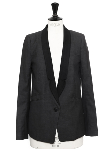 Black and grey wool blazer jacket Retail price €240 Size 36