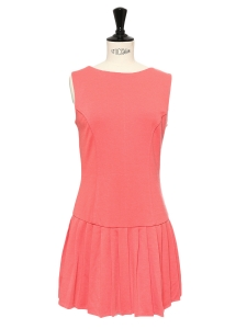 Camellia pink stretch jersey sleeveless dress Size 36