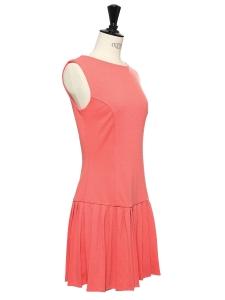 Robe sans manches en jersey stretch rose camélia Taille 36
