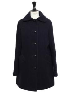 Manteau HELSINKI en laine bleu marine Prix boutique 230€ Taille S