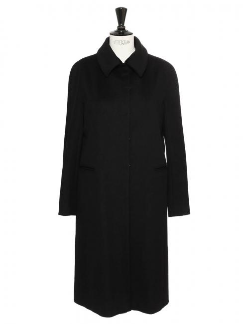 Manteau en drap de laine noir Prix boutique 350€ Taille 36