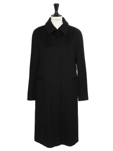 Manteau en feutre de laine noir Prix boutique 350€ Taille 38