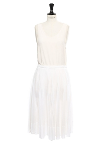 White pleated midi skirt Retail price €600 Size
