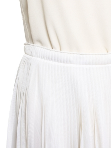 Jupe midi en voile plissé blanc Prix boutique 600€ Taille 38