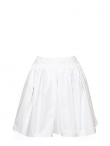 White cotton poplin skirt Retail price €355 Size 38