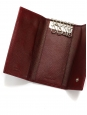 Burgundy Saffiano leather key holder wallet Retail price €200