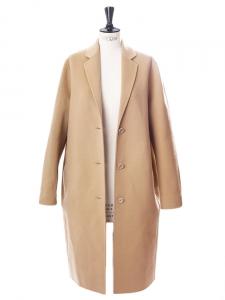 Manteau AVALON oversize en laine et cachemire beige camel Prix boutique 950€ Taille 40