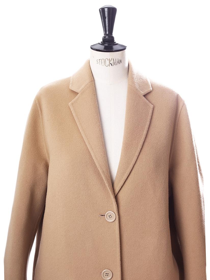 e7ac25ec52d7 ... AVALON Camel beige wool and cashmere-blend oversized coat Retail price  €950 Size L ...