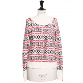 NEIGE White, red and black printed ski jumper Retail price €185 Size 36