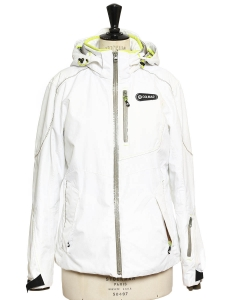 Snow white hooded ski jacket Retail price €460 Size 36