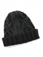 Navy blue heavy knitted beanie hat Retail price €145 Size XS