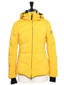 Veste doudoune à capuche jaune topaze Prix boutique 600€ Taille 36