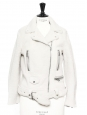 MERLYN Ivory white mock felted shearling jacket NEW Retail price €1900 Size 36/38