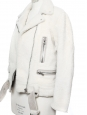 MERLYN Ivory white mock felted shearling jacket Retail price €1900 Size M/L