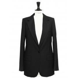 Black wool classic blazer jacket Retail price €1055 Size 36