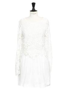 Robe CLOUD DANCER en dentelle et coton blanc neige Prix boutique 510€ Taille S