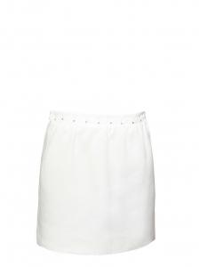 Jupe en lin blanc ivoire brodée de cristaux Swarovski Prix boutique 900€ Taille 40