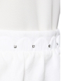 Off white linen skirt embroidered with Swarovski crystals Retail price €900 Size 40