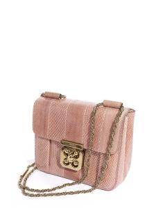 Sac à bandoulière ELSIE small en ayers rose loukoum Prix boutique 1900€