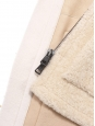 Manteau shearling en peau lainée crème Prix boutique 3500€ Taille S