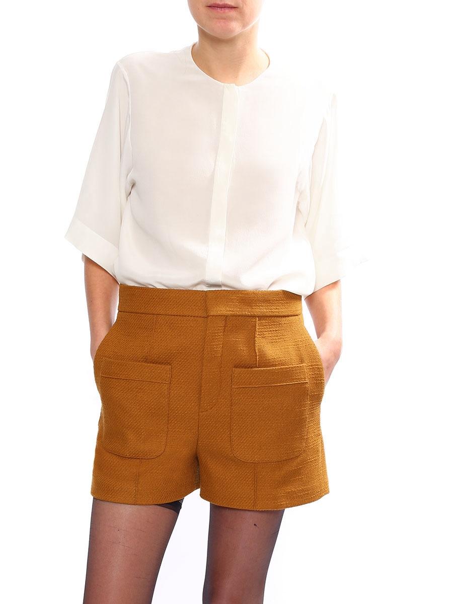 a919d5a4 Louise Paris - CHLOE Mustard yellow tweed high waisted shorts Retail ...