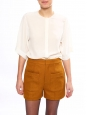 Mustard yellow tweed high waisted shorts Retail price €590 Size 36