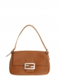 BAGUETTE Camel brown grained leather shoulder bag Retail price €1200