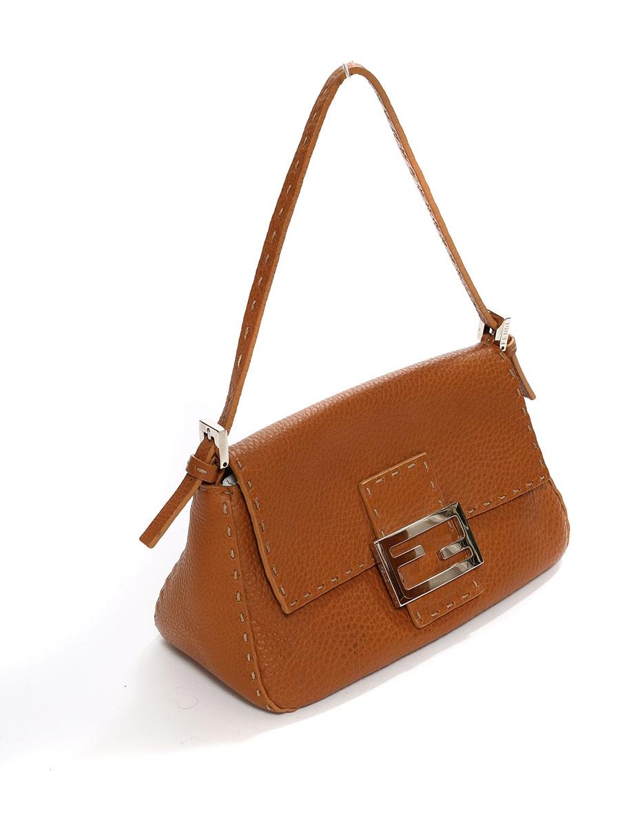 louise paris fendi sac baguette en cuir marron camel prix boutique 1200. Black Bedroom Furniture Sets. Home Design Ideas