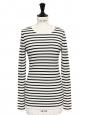 Black and white striped merino wool Breton sweater Retail price €135 Size 36