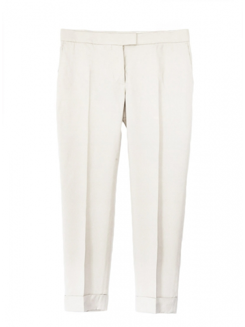 Sand beige low waist tailored pants NEW Retail price €450 Size 40