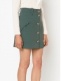 Khaki green pure new wool A-line skirt NEW Retail price €600 Size 40