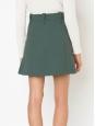 Jupe trapèze en laine vierge vert kaki NEUVE Prix boutique 600€ Taille 40