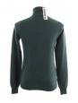 Pull col roulé en pur cachemire vert anglais Prix boutique 700€ Taille 36