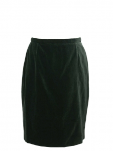 English green velvet and silk pencil skirt Retail price €600 Size 38/40