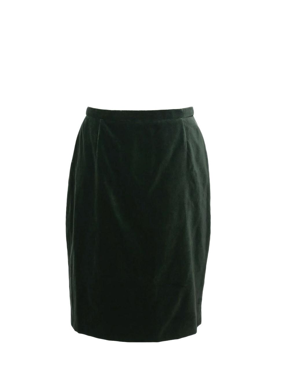 Louise Paris Rena Lange Jupe En Velours Et Soie Vert Anglais Prix Boutique 600 Taille 38 40