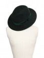 Chapeau Fedora GEORGINA en feutre de laine vert sombre Prix boutique 366€