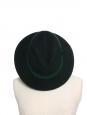 GEORGINA Dark green wool-felt fedora hat Retail price €366