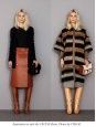Brown houndstooth knee-high heeled boots NEW Retail price $1200 Size 37.5