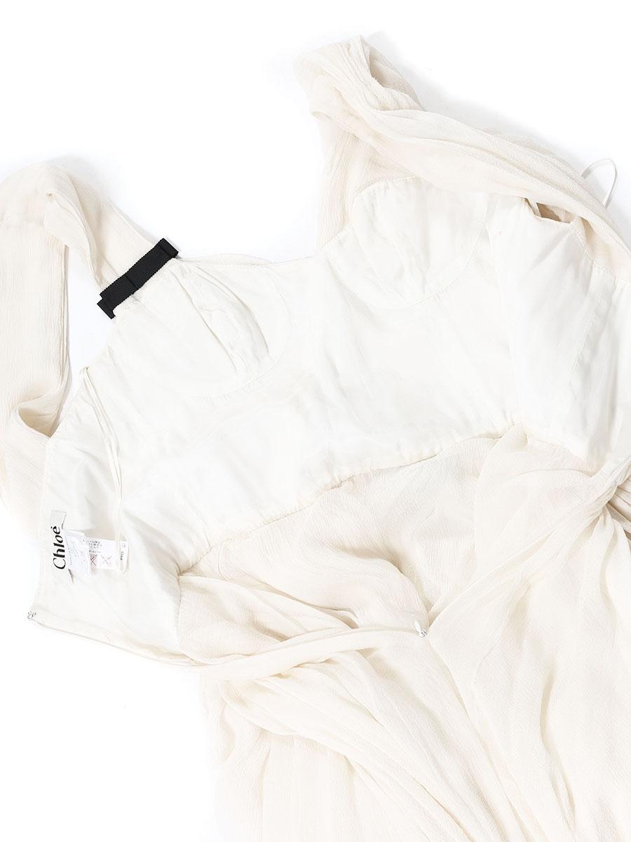 ... Robe en mousseline de soie plissée blanche NEUVE Prix boutique 3000€  Taille 36 6617a969657